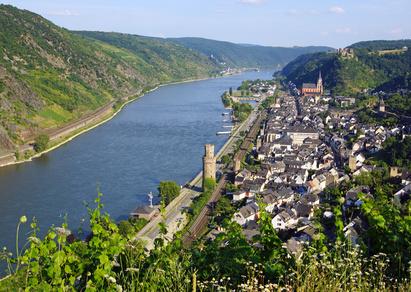 O du wunderschöner deutscher Rhein: bei Oberwesel.
