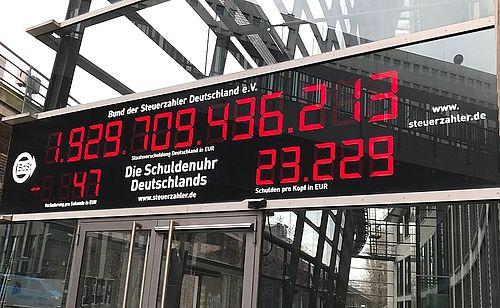 Schuldenuhr Deutschland Bund Der Steuerzahler